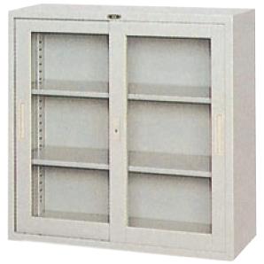 保管庫 引き違いガラス戸/グレー